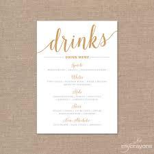 wedding drink menu template wedding bar menu template 28 images printable menu template 9