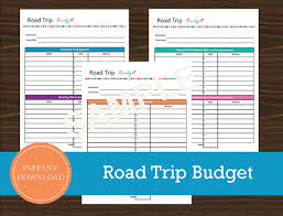 Trip Expense Tracker by Road Trip Budget And Expense Tracker Printable By Roadtripblogger