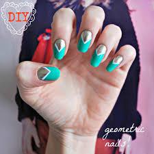 diy easy geometric nail art burkatron