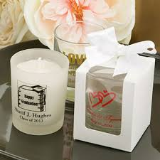 personalized candle wedding favors white gift box for personalized glass votive candle holder