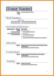 Resume Templates Sample Resume Sample Word File In Template Word Resume Template Resume
