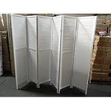 amazon com wood shutter door 6 panel room divider white