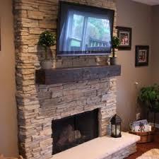 Stacked Stone Outdoor Fireplace - good build stacked stone backyard fireplace tikspor
