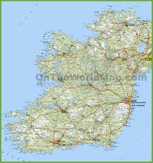 Cities In Italy Map by Large Detailed Map Of Ireland With Cities And Towns