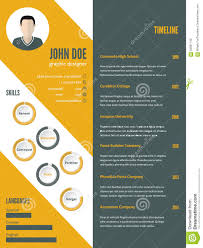 template curriculum vitae creative new modern resume cv template with photo stock vector illustration