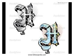 h letters tattoo designs 1