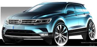 volkswagen tiguan 2016 blue volkswagen tiguan sketches leaked