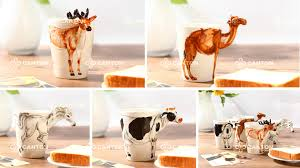 manufacturing of custom mugs and cups with 3d handle animals in