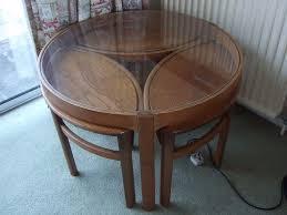 retro teak round coffee table nest nathan in donaghadee