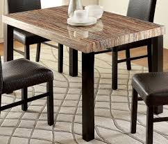 black marble top dining table set for a new dining room look
