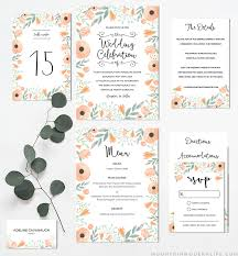 printable wedding invitation floral diy wedding invitation set mountainmodernlife