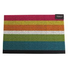 Chilewich Outdoor Rugs by Amazon Com Chilewich Shag Bold Stripe Utility Mat Black