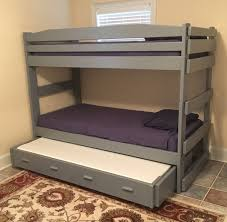 Bunk Bed Trundle Bed Stackable Bunk With Trundle Sleeps Three In The Space Of One