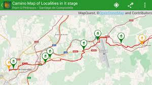 Map Qust Camino Pilgrim App