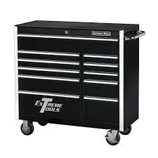 professional tool chests and cabinets extreme tools 41 in 11 drawer standard roller cabinet tool chest in