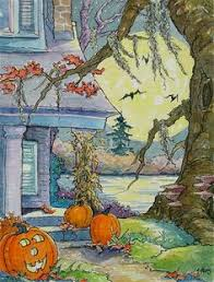 Vintage Halloween Decorations For Sale Alida Akers Halloween Cottages Pinterest Witches Hallows