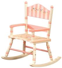 child wooden rocking chair foral