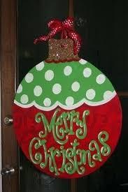 ornament burlap door hanger tree burlap door