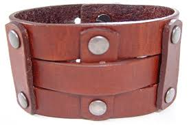 leather wrist bracelet images Genuine vintage leather wrist band sunway wholesale jpg