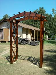 rustic arbor plans rustic x wedding arch do it yourself home