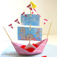 How To Make Boat From Paper - crafts a la mode august 2015