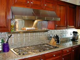 kitchen metal backsplash photos of kitchens with metal backsplashes aluminum copper