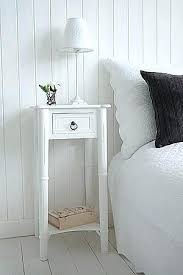 narrow oak bedside table u2013 onne co