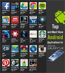 apps for android top and must android applications for samsung galaxy s3 top