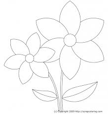 how to draw beautiful flowers for kids coloring pages of flower
