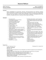 Laboratory Skills Resume 100 Lab Resume Examples Technician Resume Sample U0026 Template