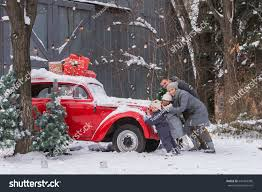 jeep christmas decorations happy family mom dad son daughter stock photo 641663386 shutterstock