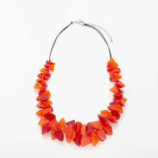 orange statement necklace images One button resin segment statement necklace orange red at john lewis