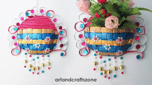 Best Out Of Waste Flower Vase Diy Recycled Newspaper Craft Video Tutorials K4 Craft