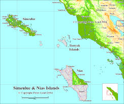 Indonesia On World Map Map Of Tsunami Devastated Areas In Sumatra Indonesia By Peter Loud