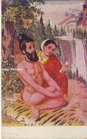 Menaka Invitation Cards Heritage Of India Vishwamitra Menaka Paintings Of Raja Ravi Varma