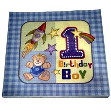 1st birthday boy 1st birthday boy theme paper napkins