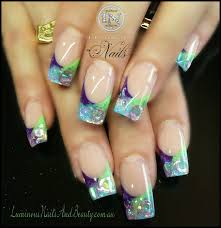 glitter acrylic nails nails and beauty gold coast queensland