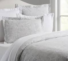 Black And White Paisley Duvet Cover Marabelle Organic Duvet Cover U0026 Sham Pottery Barn
