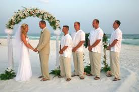 tropical wedding attire the is all about sandals i really like the brides grooms
