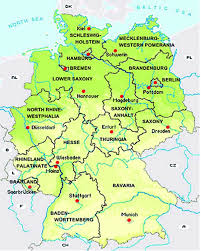 Bavaria Germany Map by Colour Online Map Of Germany Showing The Federal States Source