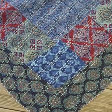 grand jeté de canapé jeté de lit couvre lit jeté de canapé ou plaid en coton bleu indigo