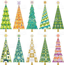 retro christmas tree decorations stock vector art 165745932 istock
