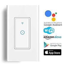 echo compatible light switch amazon com smart light switch wi fi switch in wall wireless switch