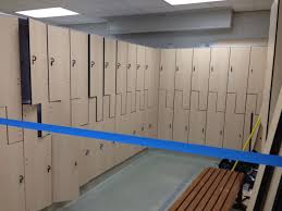 Hey Look New Lockers At The AFC Recreation George Mason University - Family changing room