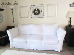 Incredible Leather Settee Sofa Better Housekeeper Blog All Things How To Make A Slipcover Part 2 Slipcover Reveal Honeybear Lane