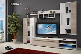 Living Room Tv Table Wall Unit Fabio Ii Tv Table Entertainment Unit Tv Stand