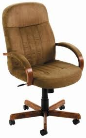 cappucino microfiber office desk chair with wood accents b8386