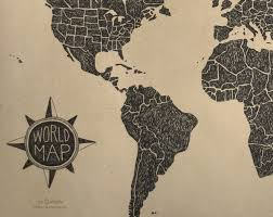 World Map Large by World Map Large Poster Wit U0026 Whistle