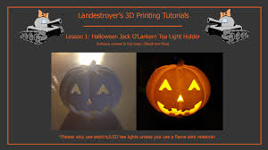halloween tea lights jack o u0027lantern 3d print model tutorial youtube