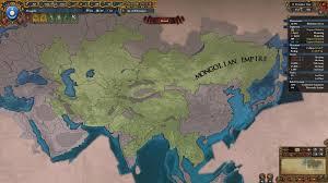 Mongolian Empire Map The Mongolian Empire Rebuilt In 100 Years Eu4
